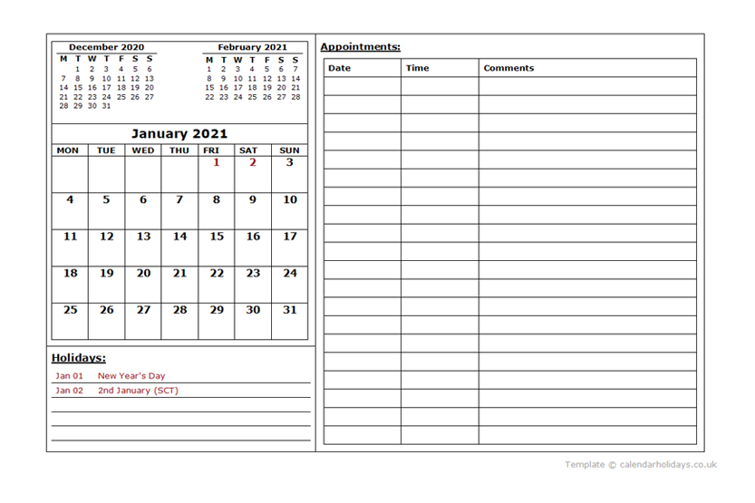 2021 Monthly Template  Calendarholidays.co.uk throughout 2021 Lined Calendar Printable Excel