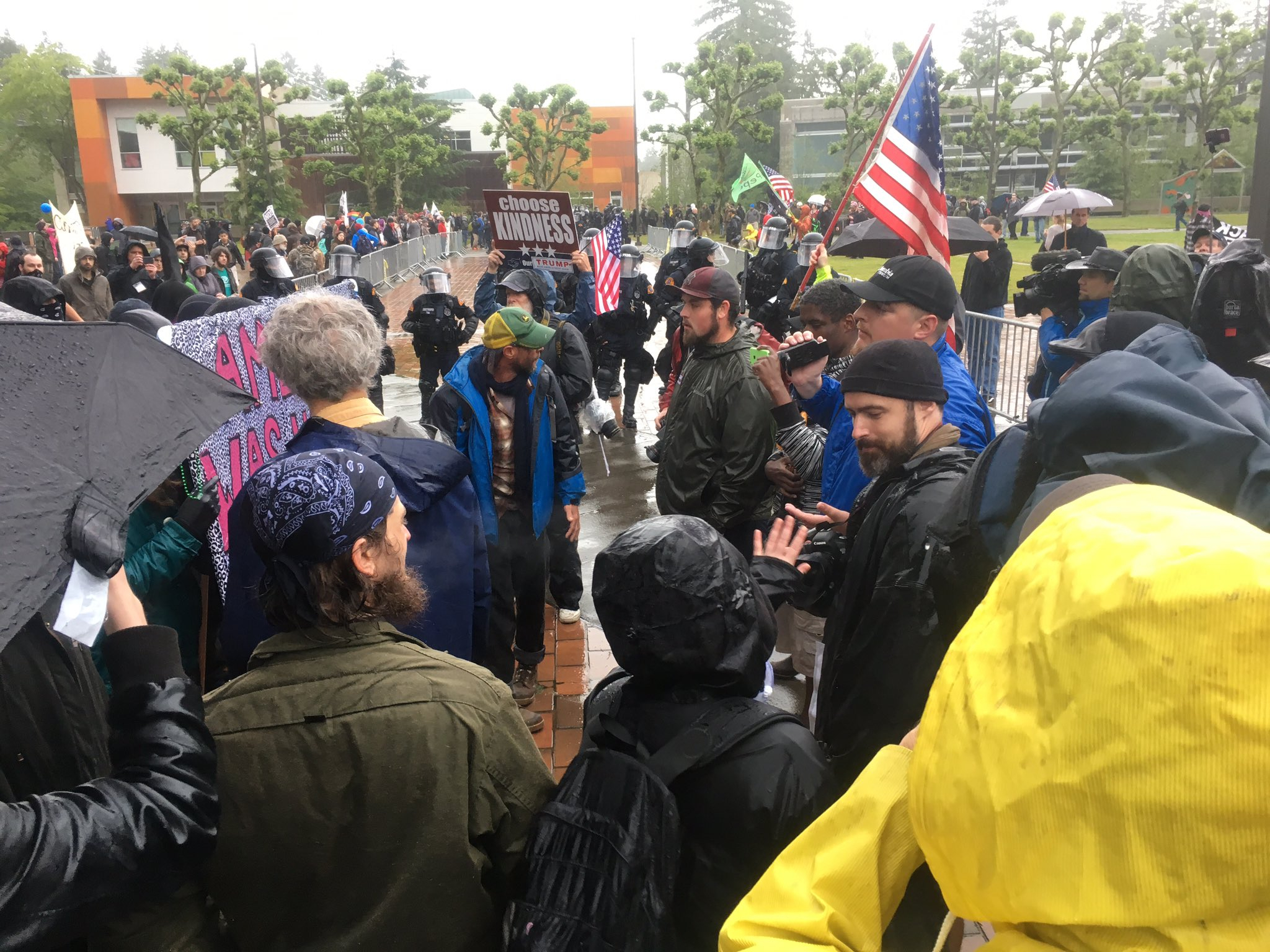 1 Arrested During Clashing Protests At Evergreen State inside During One Calendar Year A State Trooper