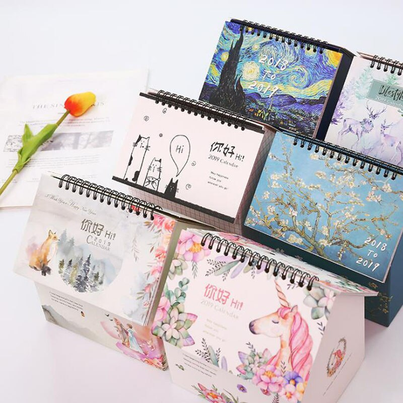 1 Pcs 2018.09 2019.12 Creative Folding House Unicorn throughout Advice From A Unicorn Desk Calendar