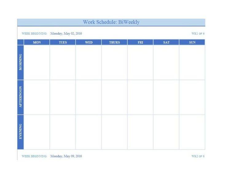 12 Free Weekly Schedule Templates (Ms Word And Ms Excel regarding 12 Week Planner Template