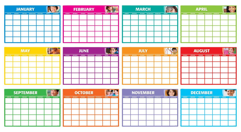 12 Months Blank Calendar Bulletin Board | Calendar inside Fill In Calendar