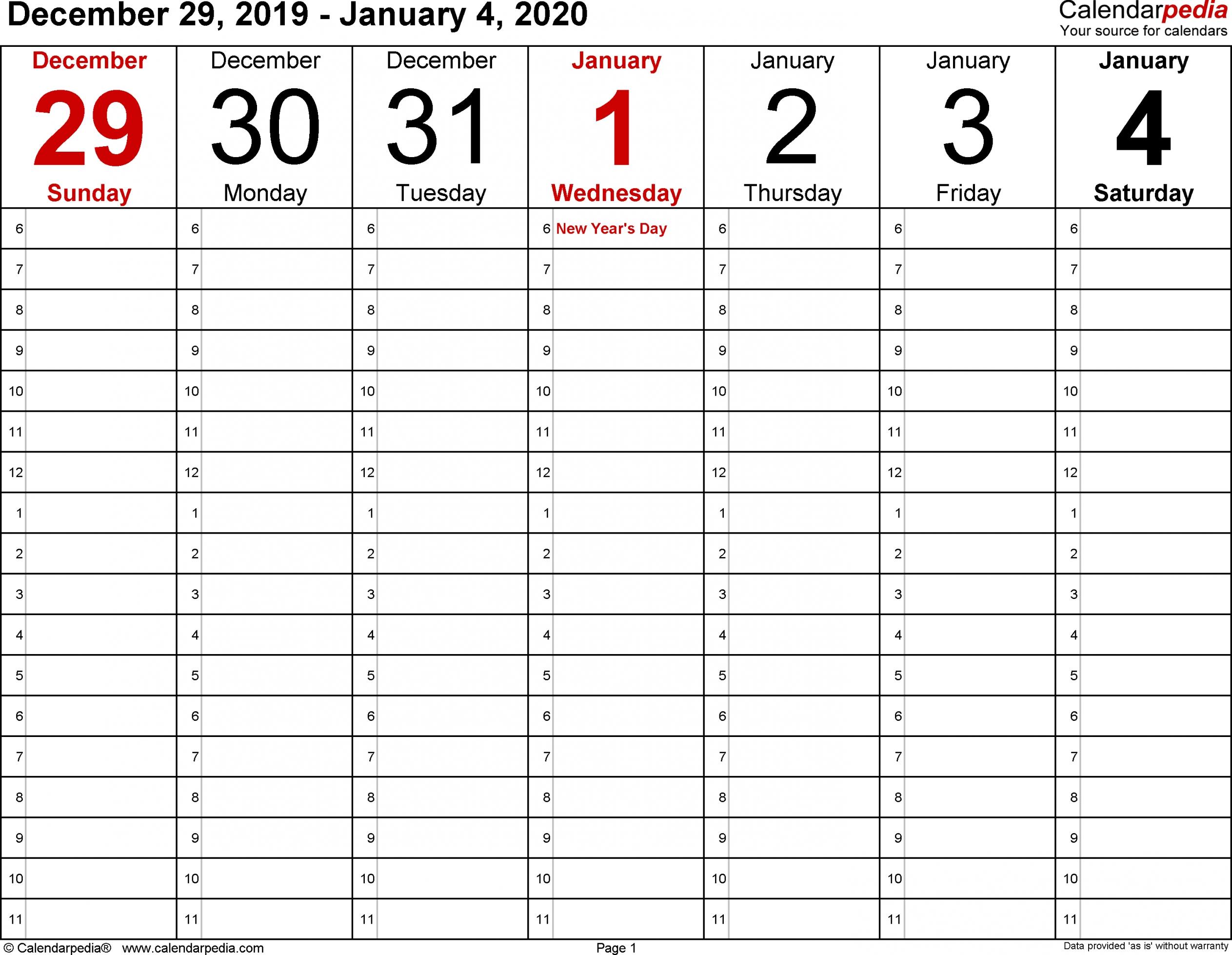 2 Week Blank Calendar 2020 Printable   Free Letter Templates in Blank 2 Week Calendar