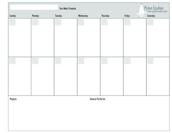 2 Week Calendar  How To Create A 2 Week Calendar with regard to Blank 2 Week Calendar