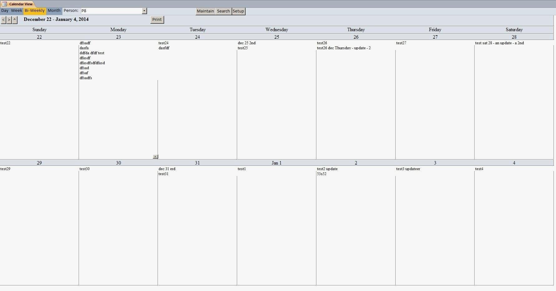 2 Week Calendar Template Printable | Free Calendar throughout Two Week Calender