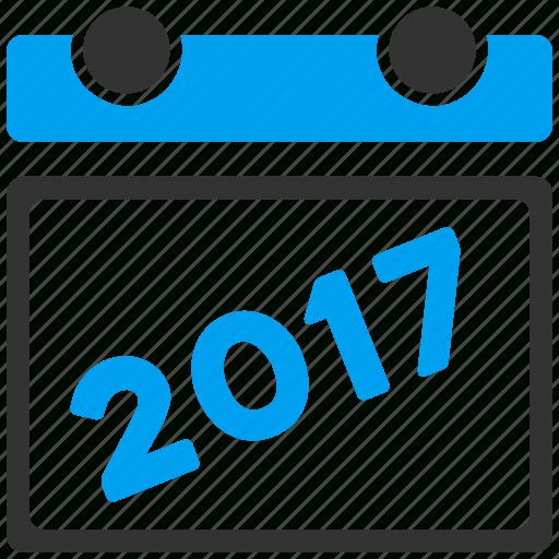 2017 Year, Appointment, Calendar, Diary, Leaf, Plan inside Year Calendar Icon