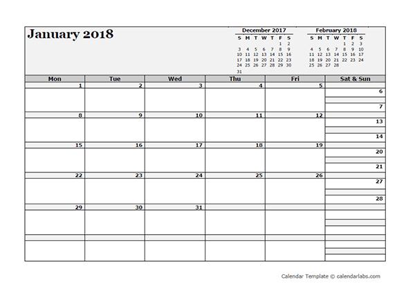 2018 Blank Three Month Calendar  Free Printable Templates throughout Printable Calendar With Three Months