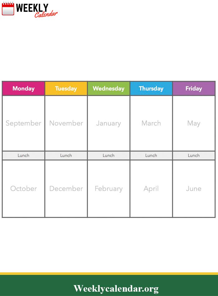 2019 Blank Weekly Calendar Printable In Pdf, Word & Excel inside Multi Month Calendar Template