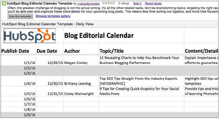 2019 Editorial Calendar Templates regarding Google Docs Editorial Calendar Template