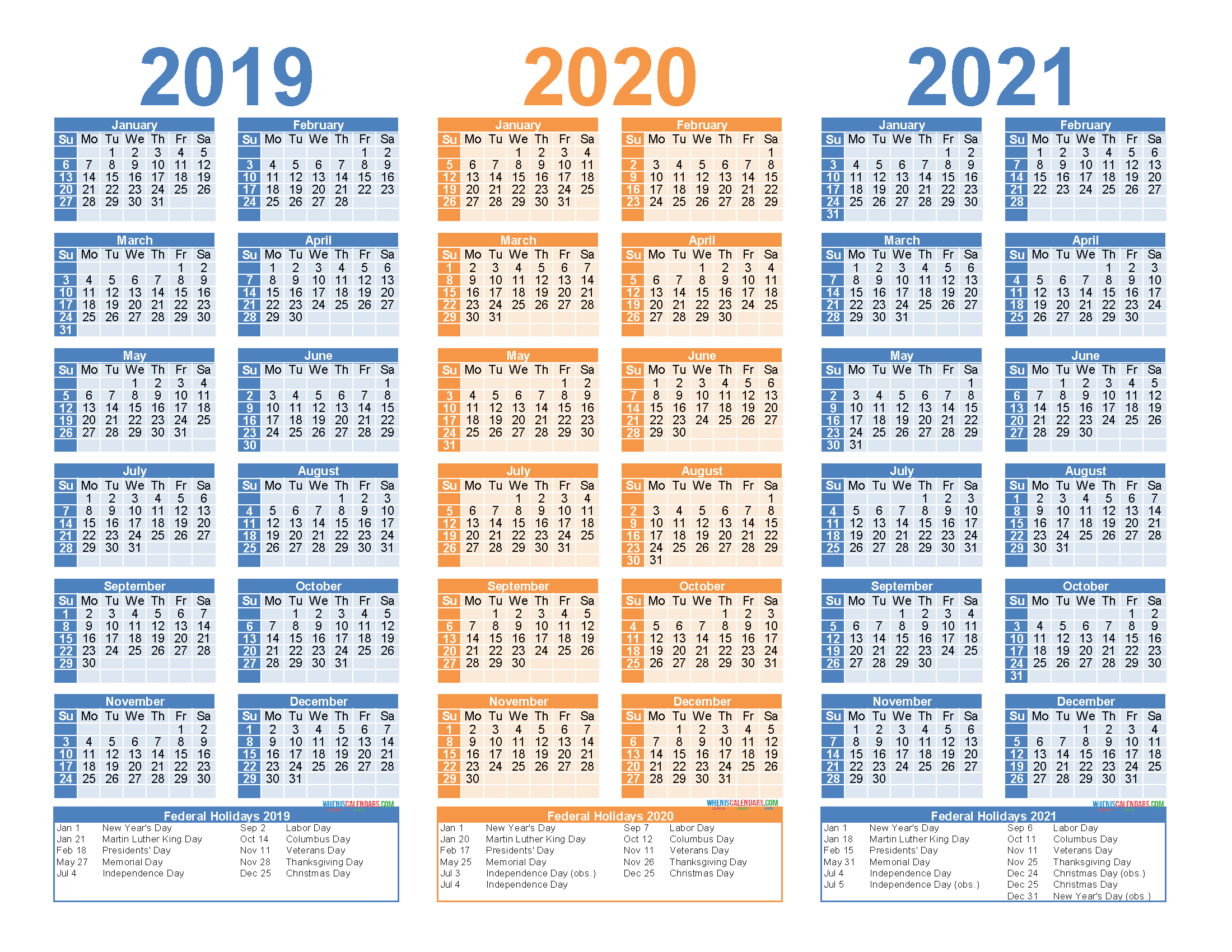 2019 To 2021 Free Calendar Template 3 Year Calendar intended for Last 3 Month Of 2021 Calendar