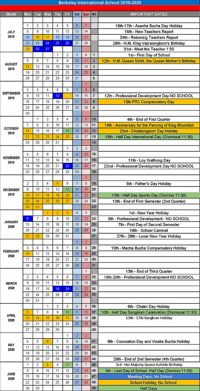 20192020 I Calendar | Berkeley pertaining to Uc Berkely Academic Calendar