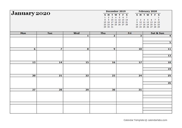 2020 Blank Three Month Calendar  Free Printable Templates for 3 Month Blank Printable Calendar 2021