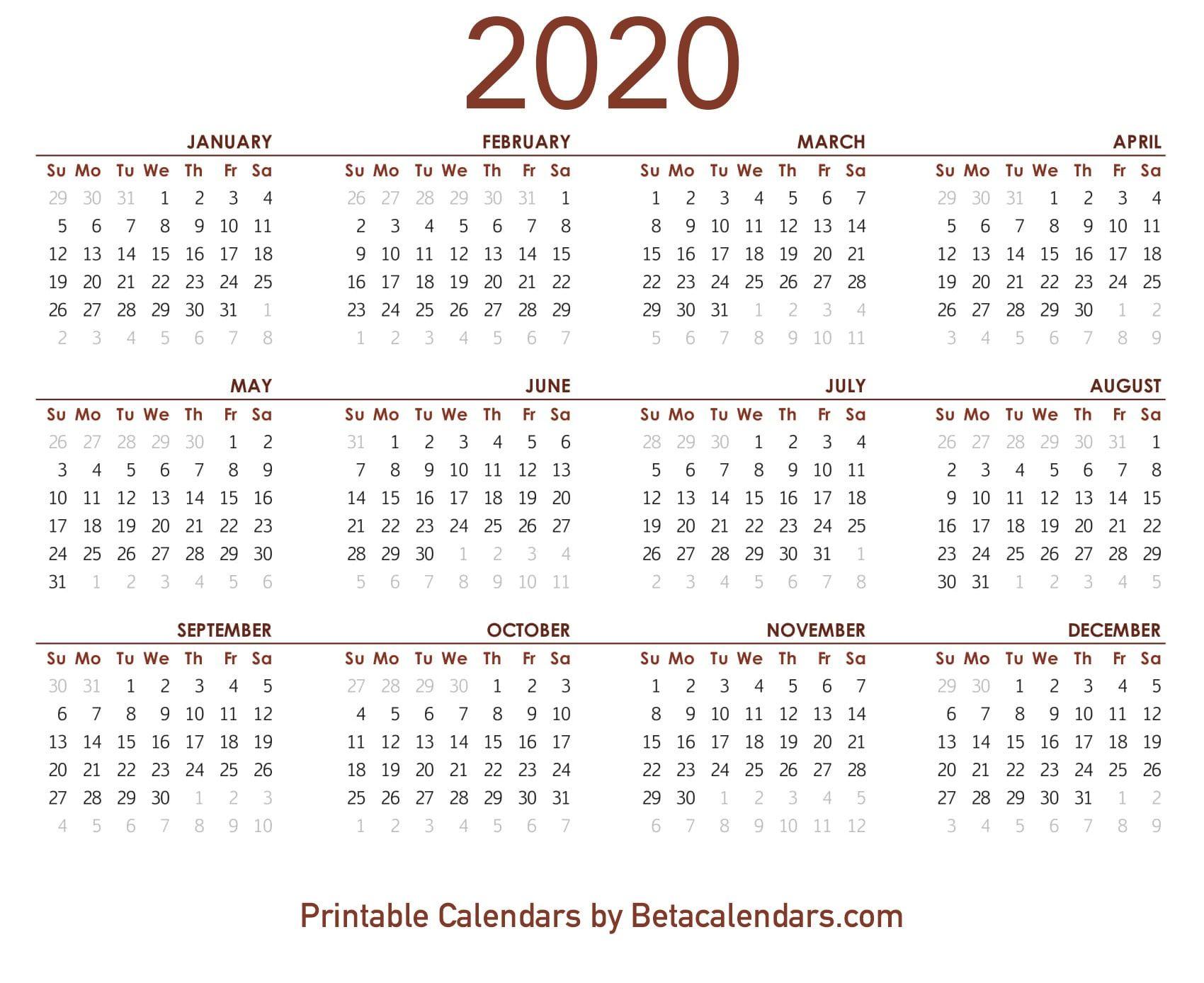 2020 Calendar 8 12 X 11 | Free Printable Calendar pertaining to 8X11 Calendar Printable