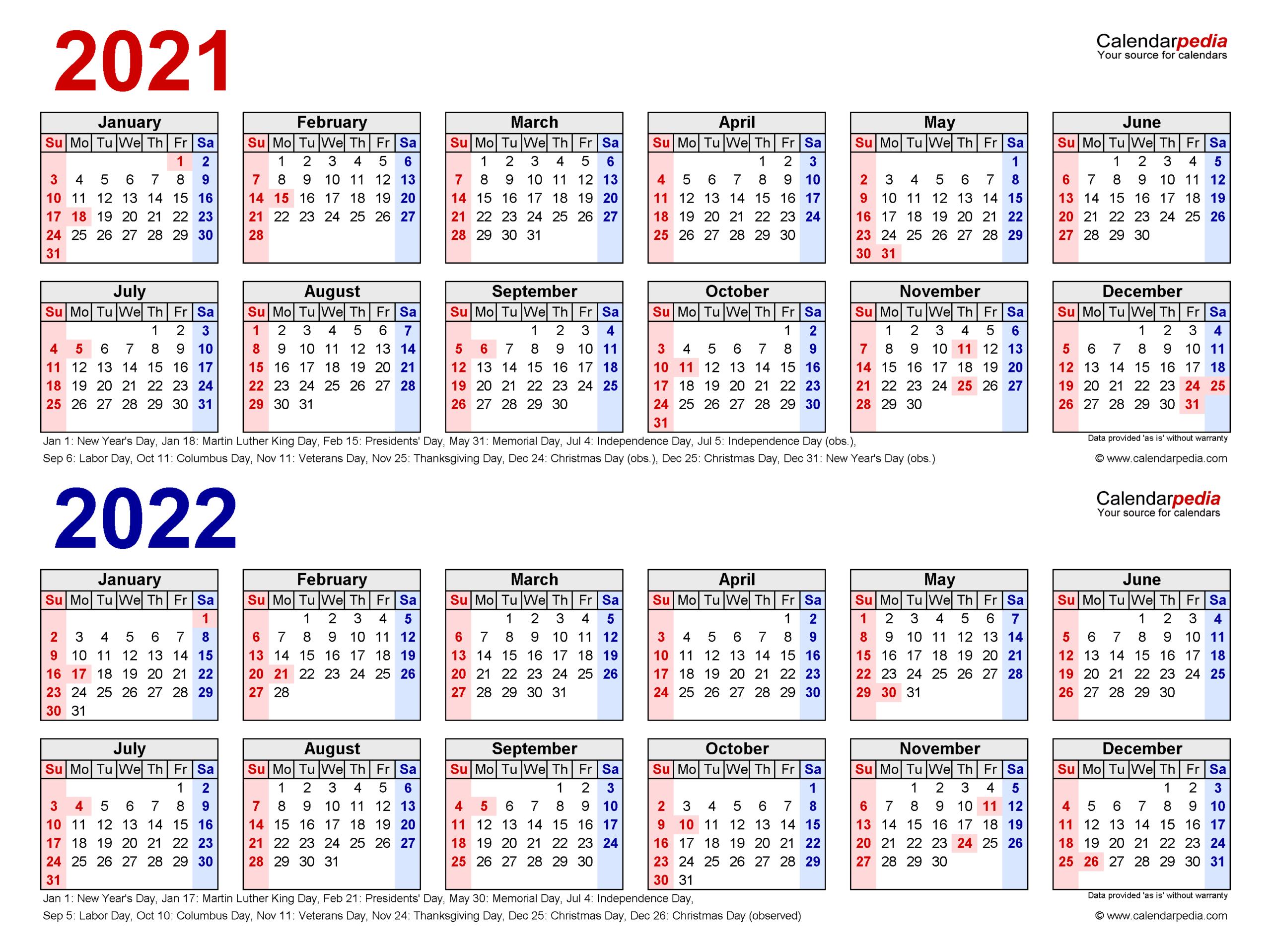 2021 22 Calendar for 2021 Calendar Excel Start Monday