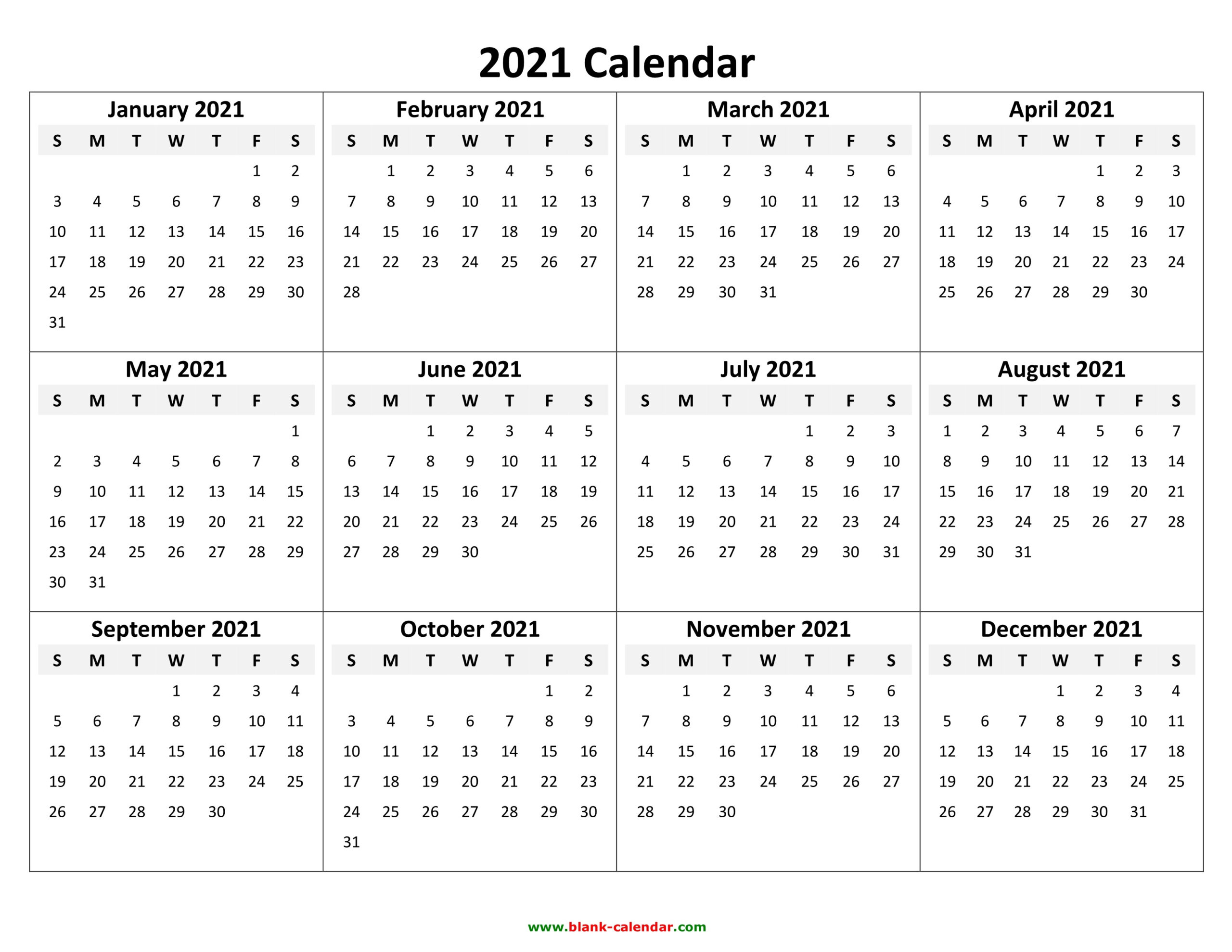 2021 Calendar Pdf 3 Year Calendar Full Page | Free pertaining to 3 Month Printable Calendar Templates For 2021