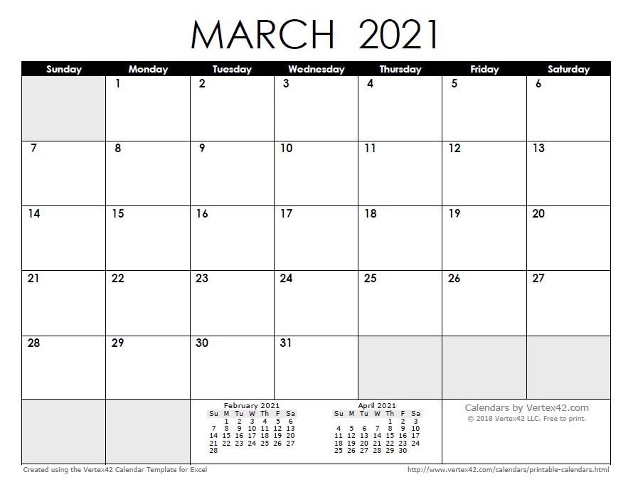 2021 Calendar Templates And Images | Calendar Printables regarding 2021 Excel Printable Calendars