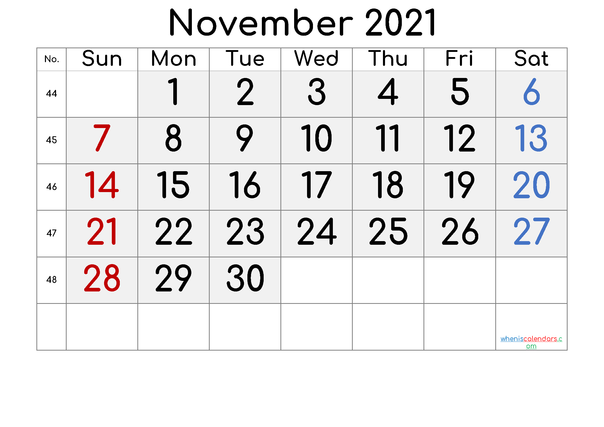 2021 Calendar With Week Number Printable Free : Calendar for 2021 Calendar Excel Start Monday