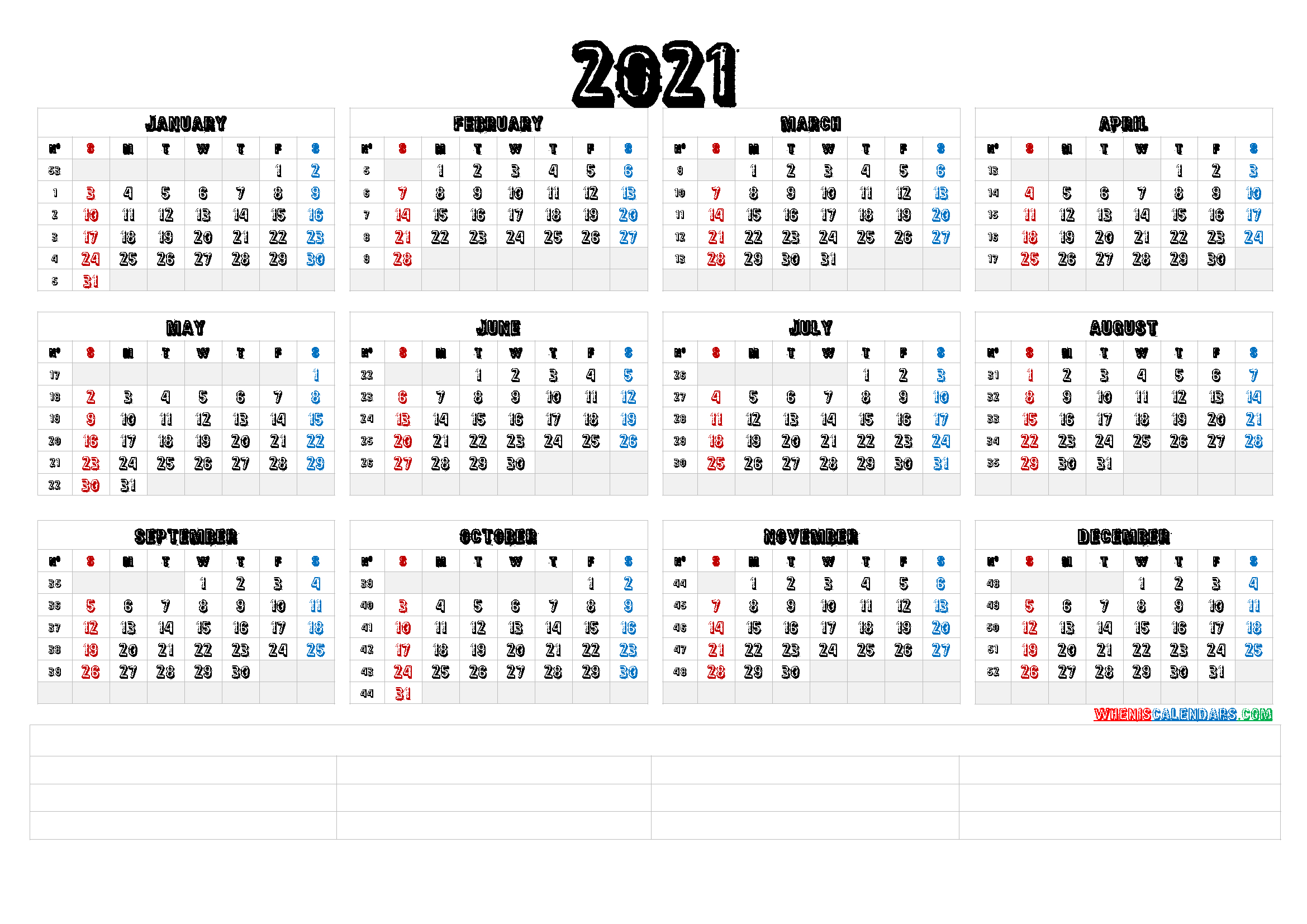 2021 Calendar With Week Number Printable Free : Week pertaining to 2021 Calendar Excel Start Monday