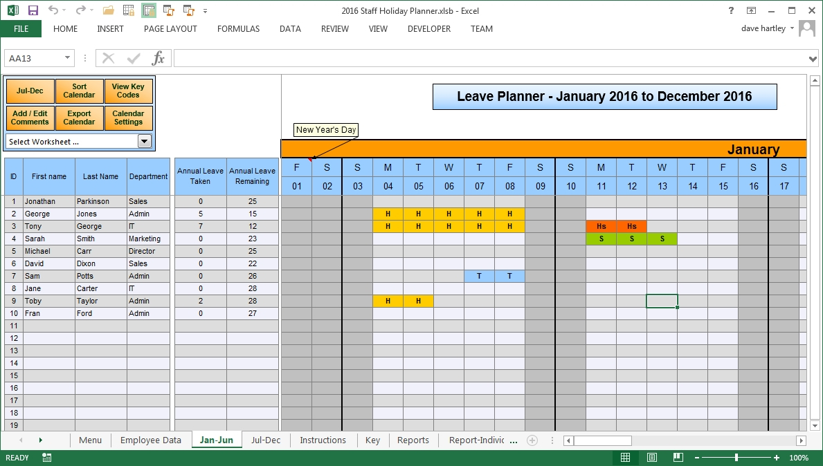 2021 Employee Vacation Planner   Calendar Template Printable throughout Sick Day Calendar For Employees 2021