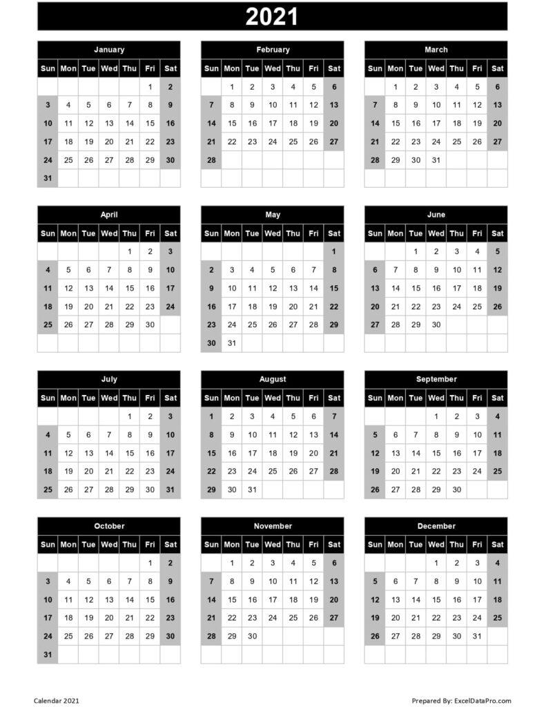 2021 Leave Calendar Excel  Printablecalendarsfor2021 for 2021 Pto Calendar Template Excel