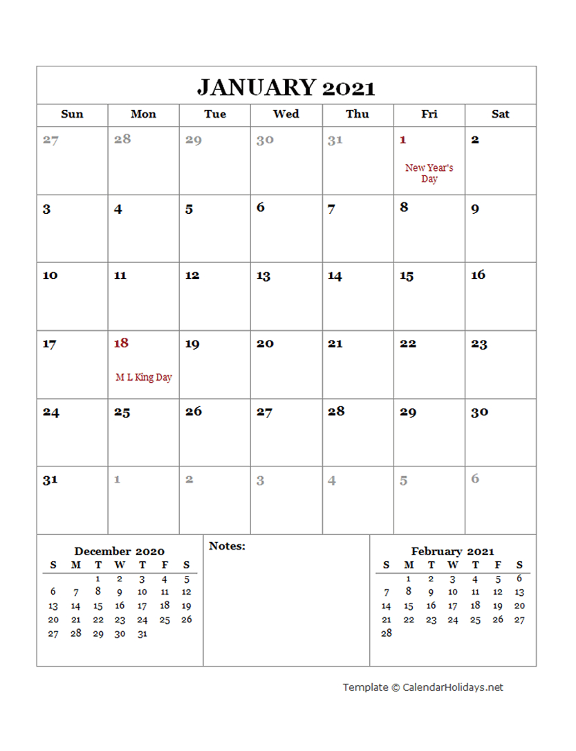 2021 Monthly Template  Calendarholidays with Printable Calendar With Three Months