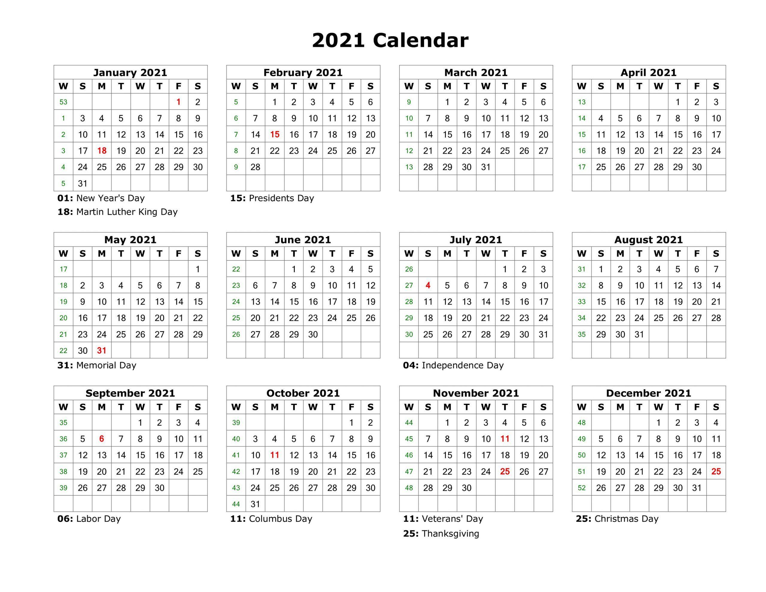 2021 Printable Calendar One Page for 3 Month Calendar 2021 Printable Free