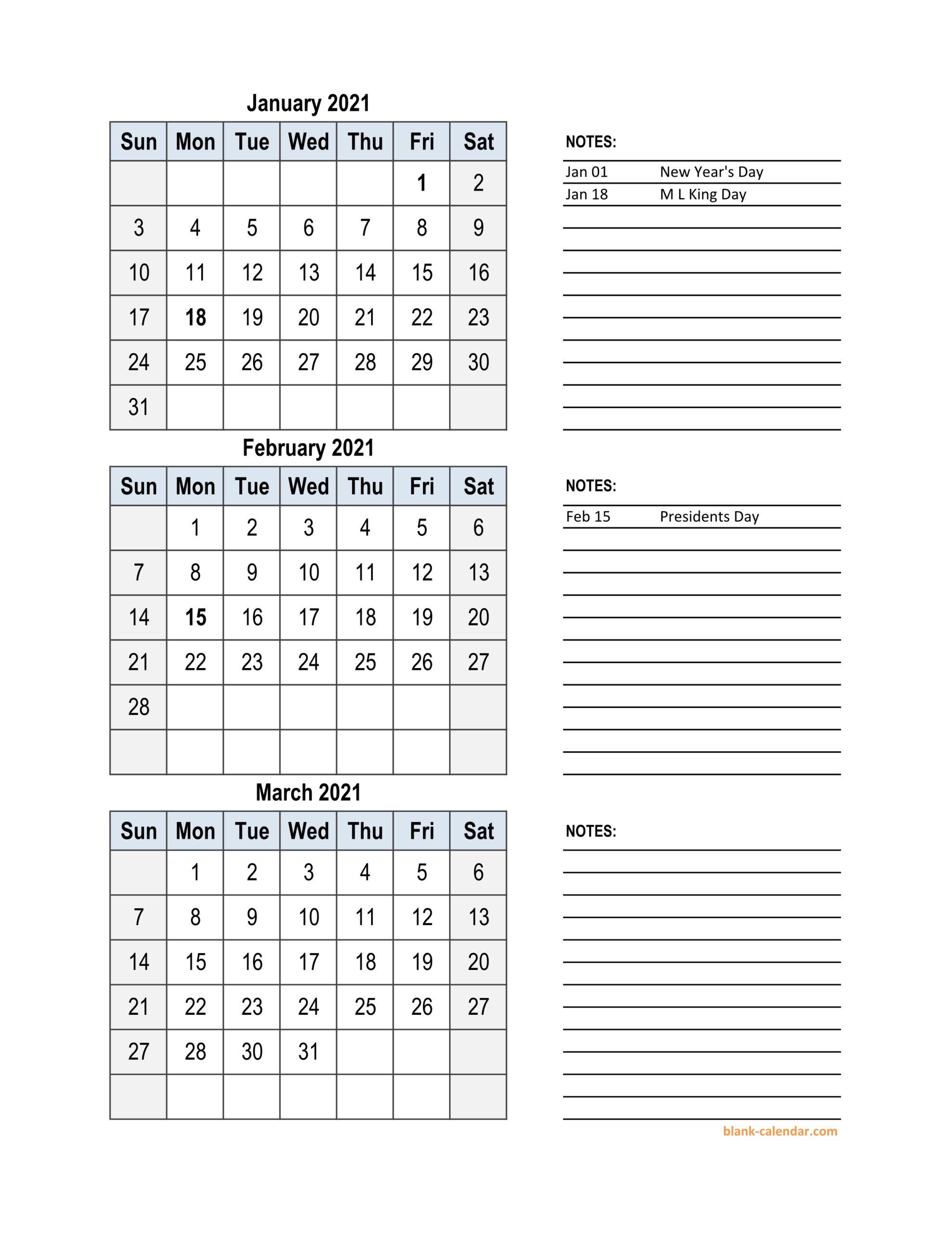 2021 Printable Quarterly Calendar | Free 2021 Printable inside 2021 Excel Printable Calendars