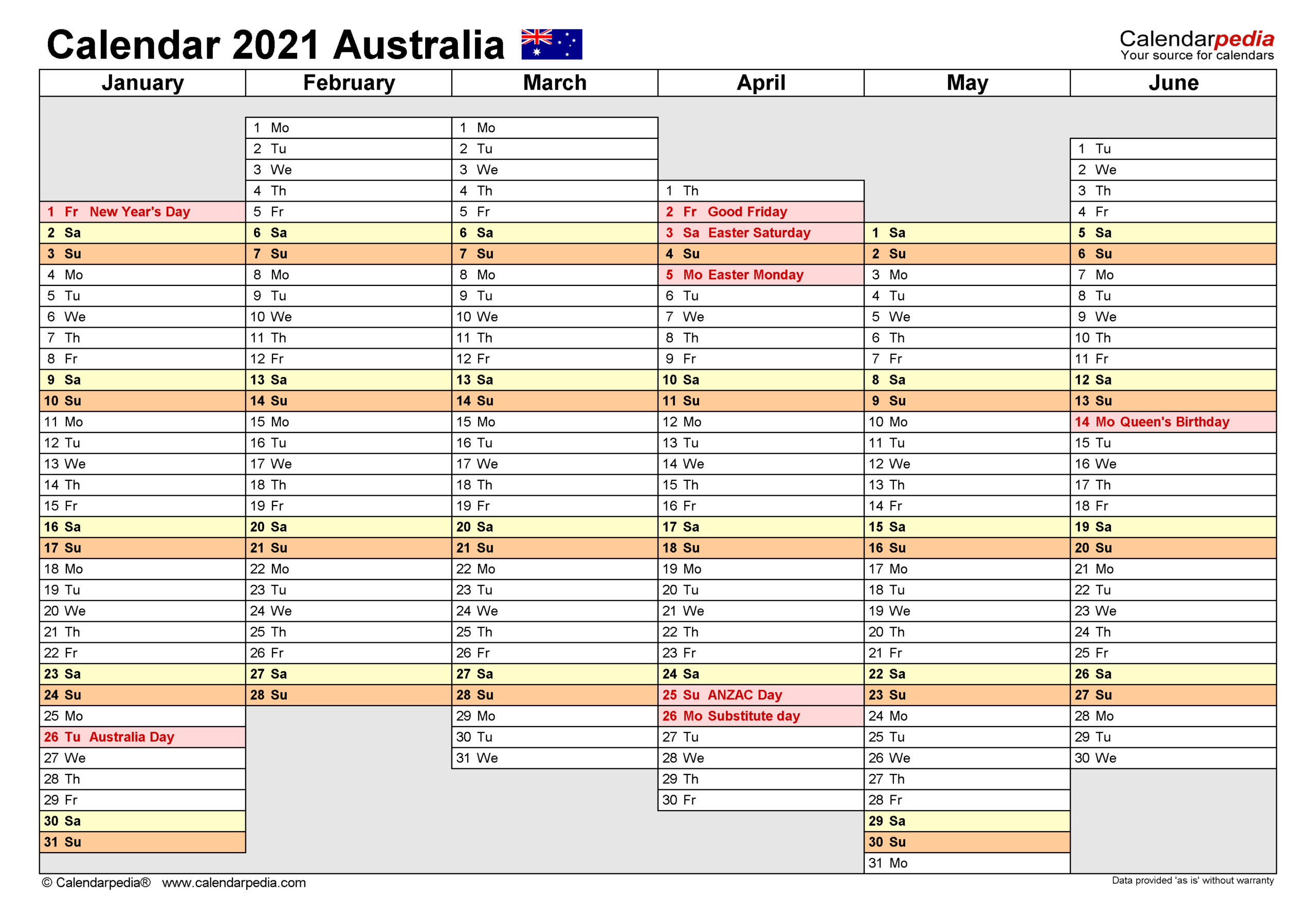 2021 Year Planner within 2021 Excel Printable Calendars