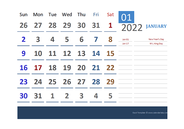 2022 Excel Calendar For Vacation Tracking  Free Printable with 2021 Pto Calendar Template Excel