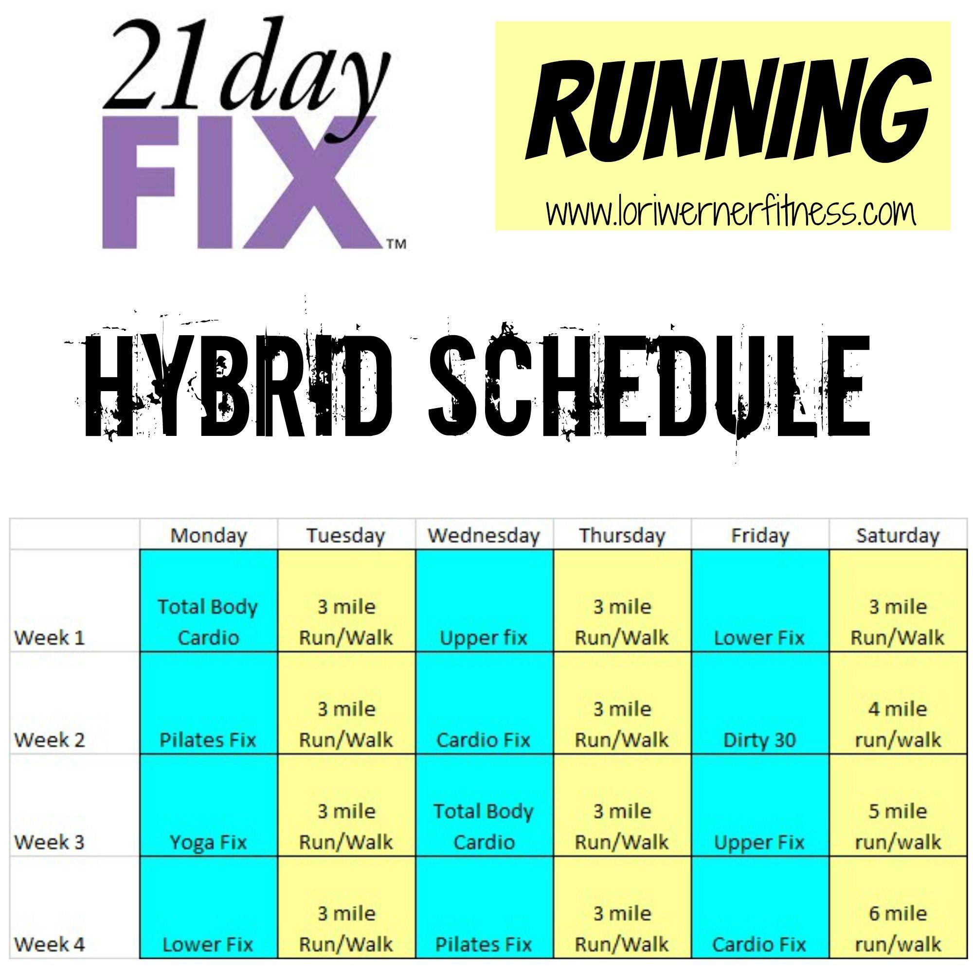 21Dayfixrunninghybrid (2000×2000) | 21 Day Fix pertaining to Piyo 21 Day Fix Hybrid