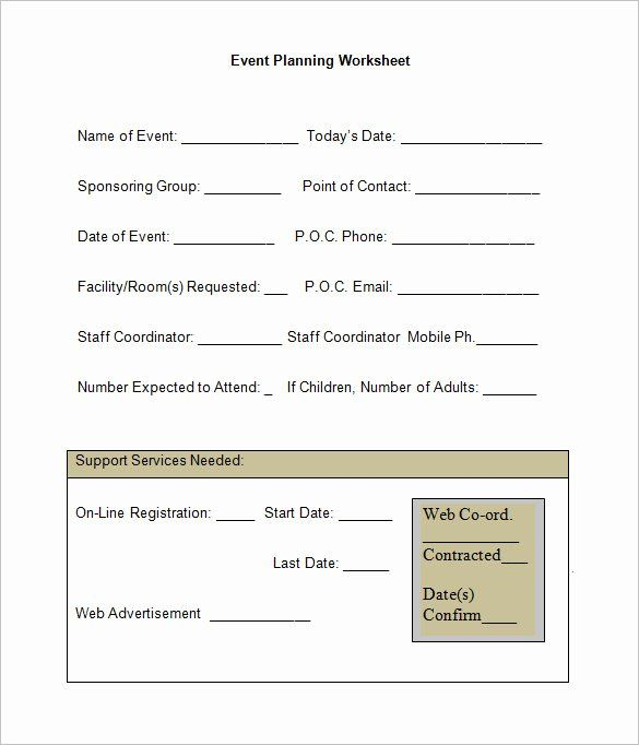 25 Church Event Planning Worksheet In 2020   Event Planning Worksheet, Event Planning Template in Event Planning Worksheet Template