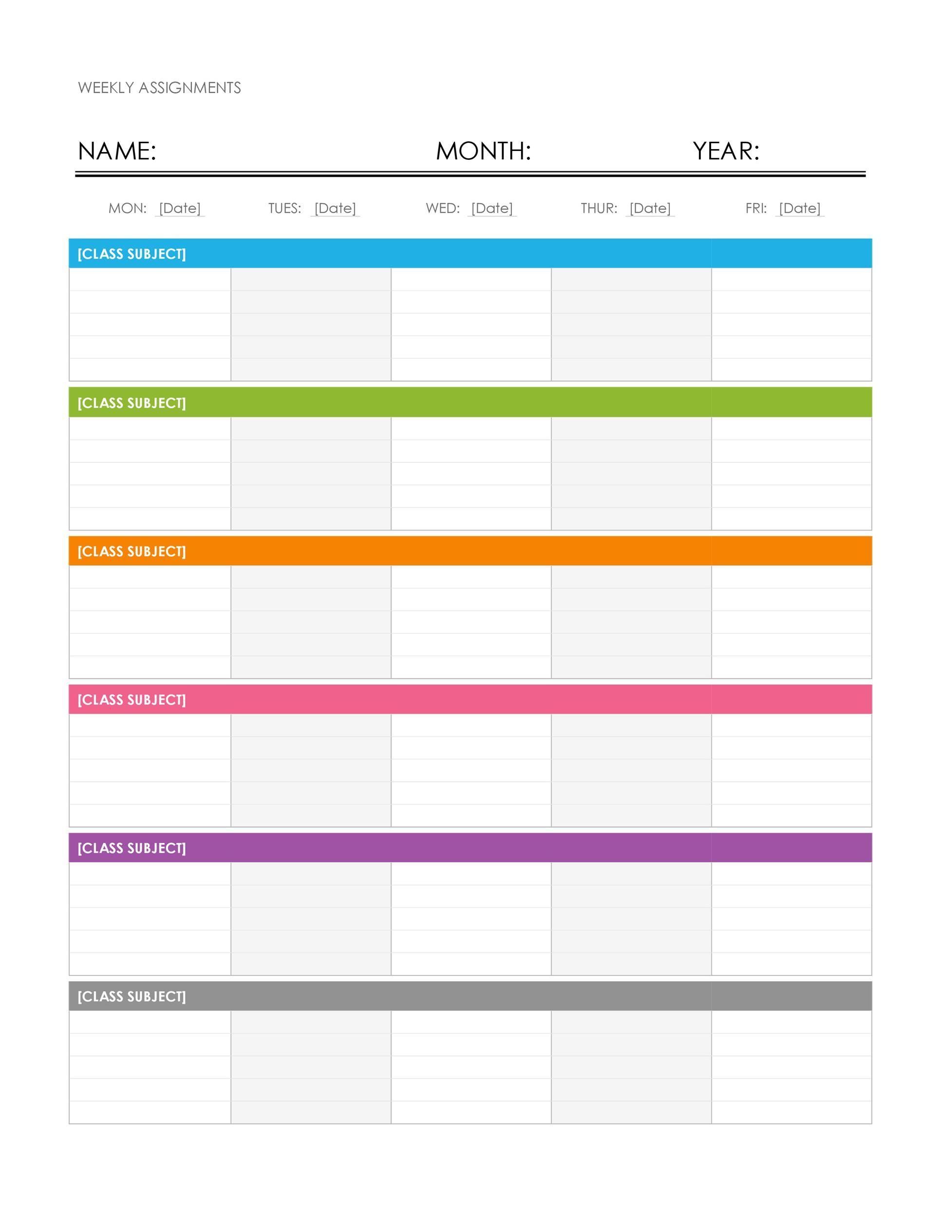 26 Blank Weekly Calendar Templates [Pdf, Excel, Word in Fill In Calendar