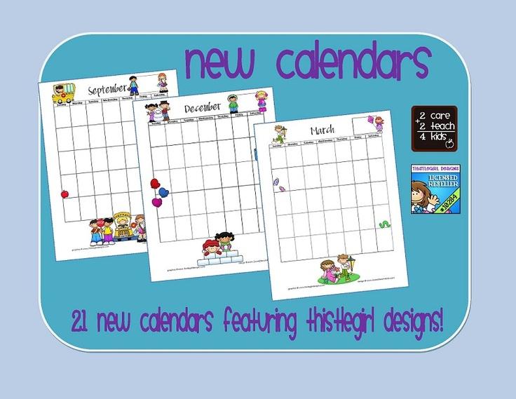 2Care2Teach4Kids   Printable Lesson Plans, School Calendar for Lesson Calendar Template