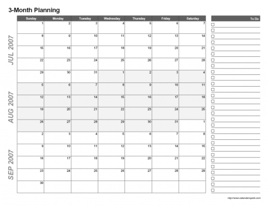 3 Month Blank Calendar Template   Paspas with regard to Blank 3 Month Calendar