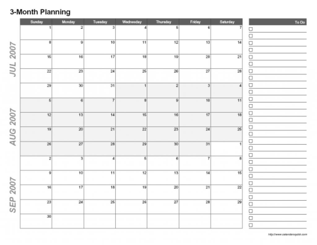 3 Month Blank Calendar Template | Printable Calendar intended for 3 Month Calendar 2021 Printable Free