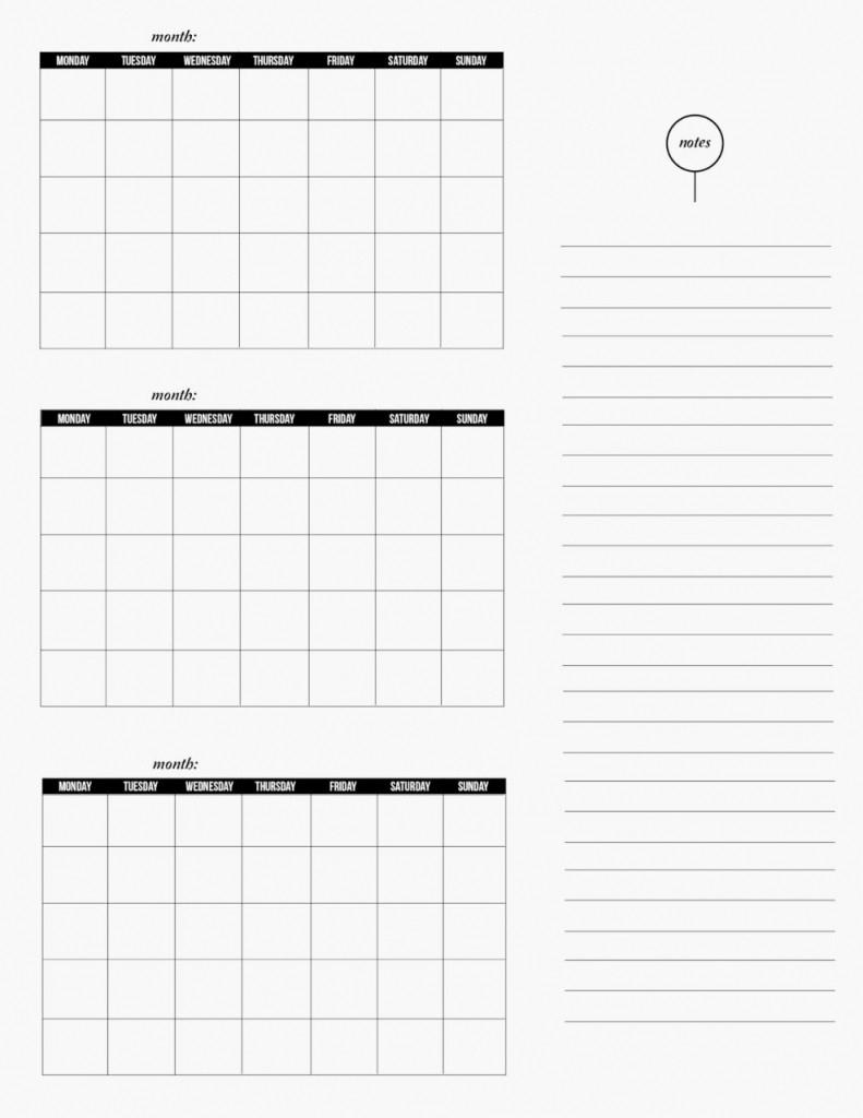 3 Month Editable Calendar Template   Example Calendar within 3 Month Calendar Printable