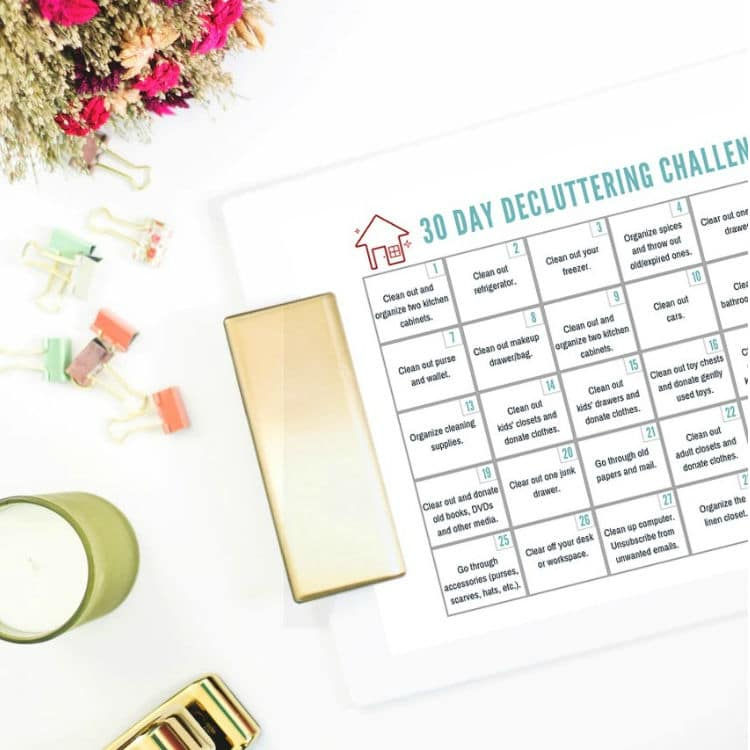 30 Day Declutter Challenge  Free Printable Guide  List inside 30 Day Declutter Challenge Calendar
