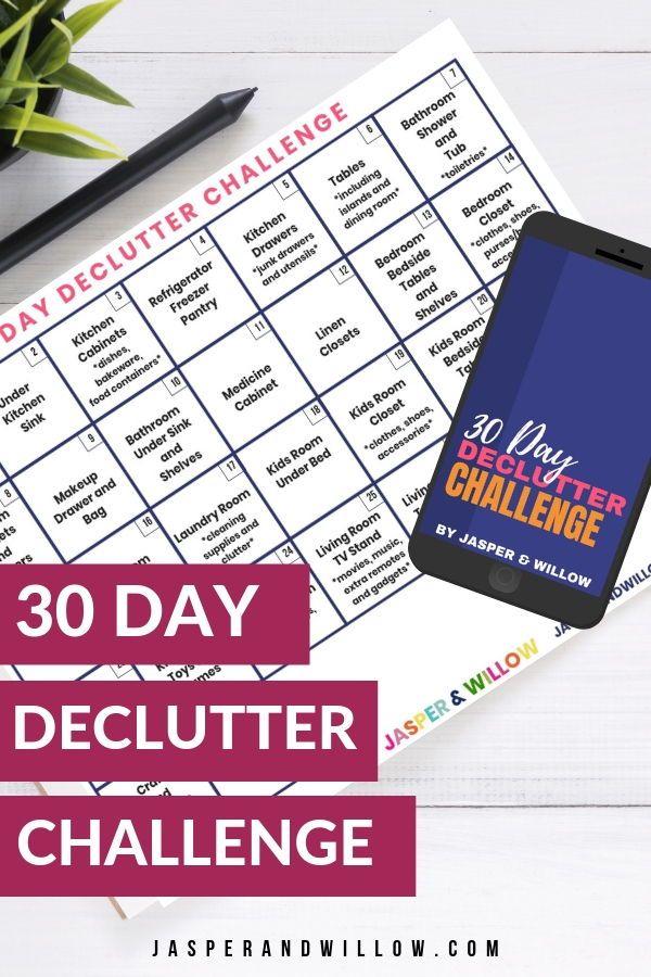 30 Day Declutter Challenge In 2020 | Declutter, Declutter throughout 30 Day Declutter Challenge Calendar