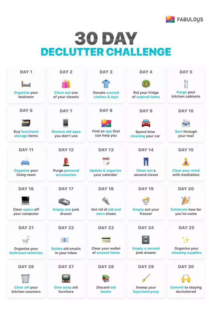 30Day Declutter Challenge. | Declutter Challenge inside 30 Day Declutter Challenge Calendar