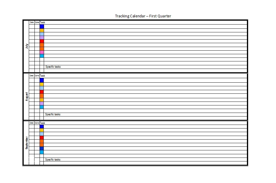32 Free Bill Pay Checklists & Bill Calendars (Pdf, Word intended for Printable Calendar For Bills