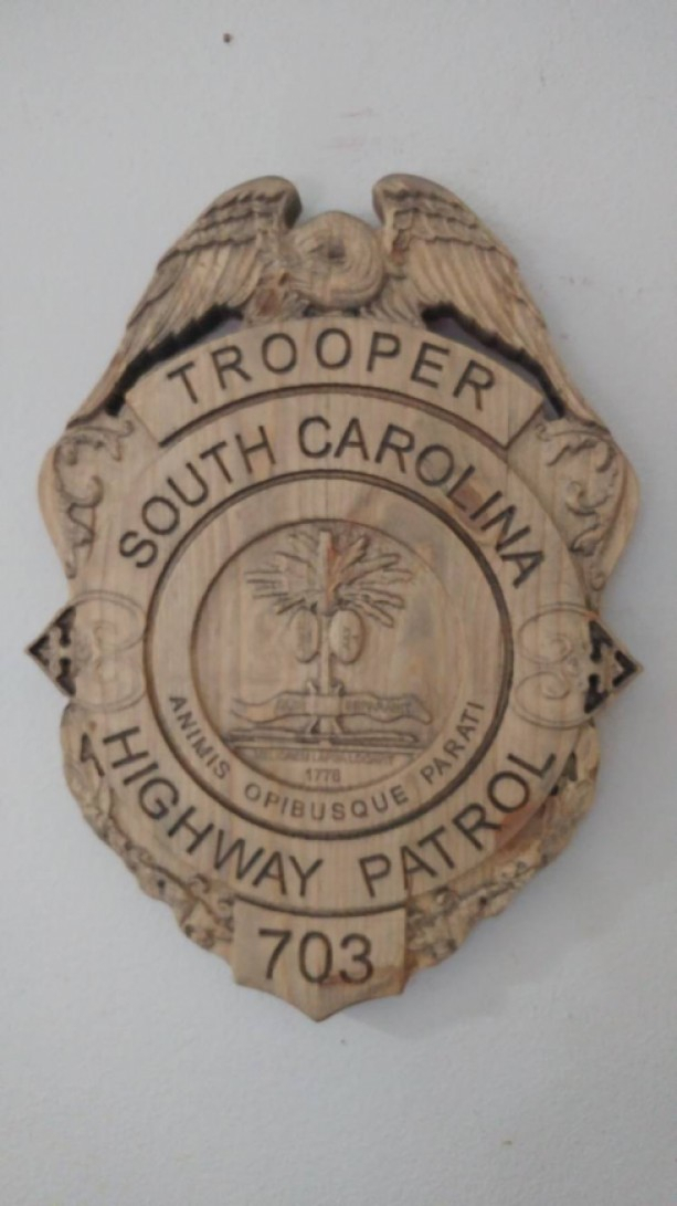 3D V Carved  Personalized South Carolina State Trooper inside During One Calendar Year A State Trooper