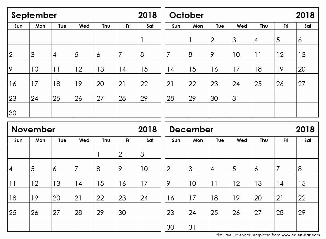 4 Month Calendar Template 2020   Example Calendar Printable with Printable 4 Month Calendar