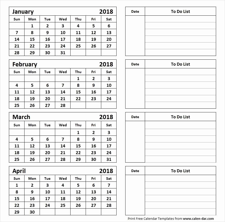 4 Month Printable Calendar Free | Example Calendar Printable in Printable Calendar With Three Months