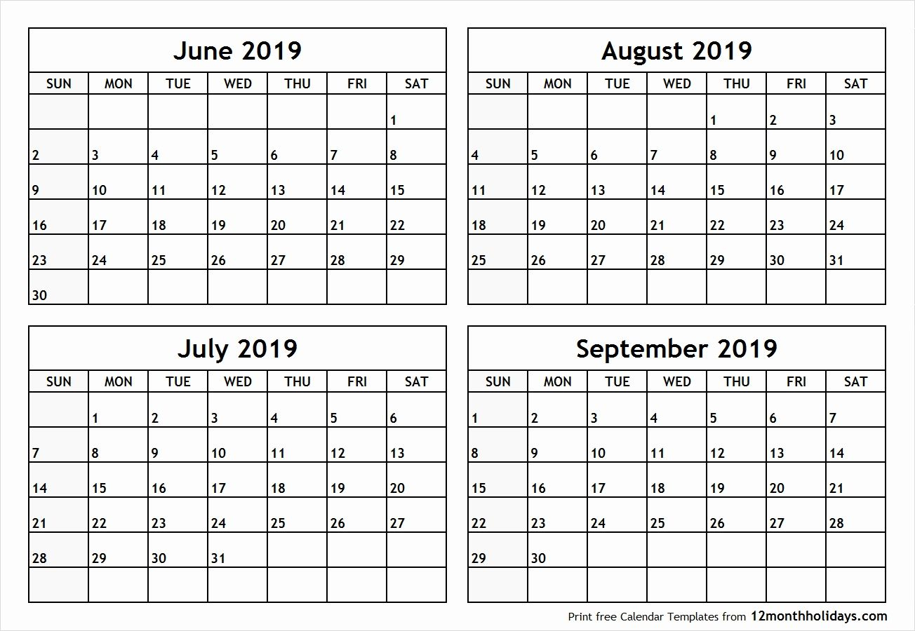 4 Months Per Page Calendar Printable   Template, December throughout Printable 4 Month Calendar