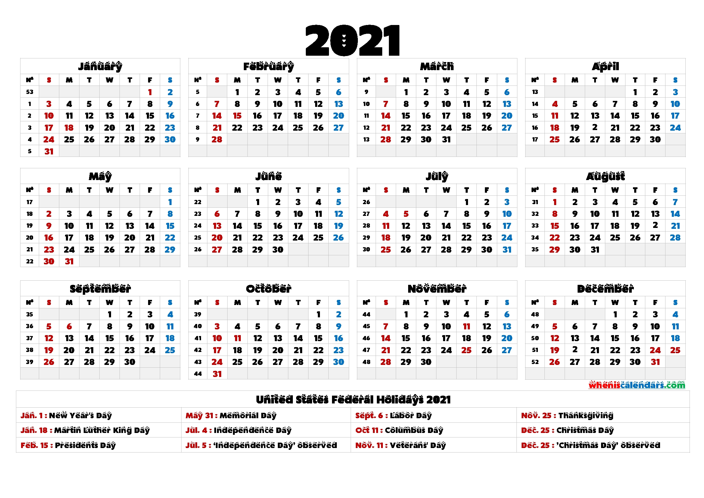 4Mmonth Calendar On One Page 2021  Example Calendar Printable inside Free Printable Calendars 2021 With Lines