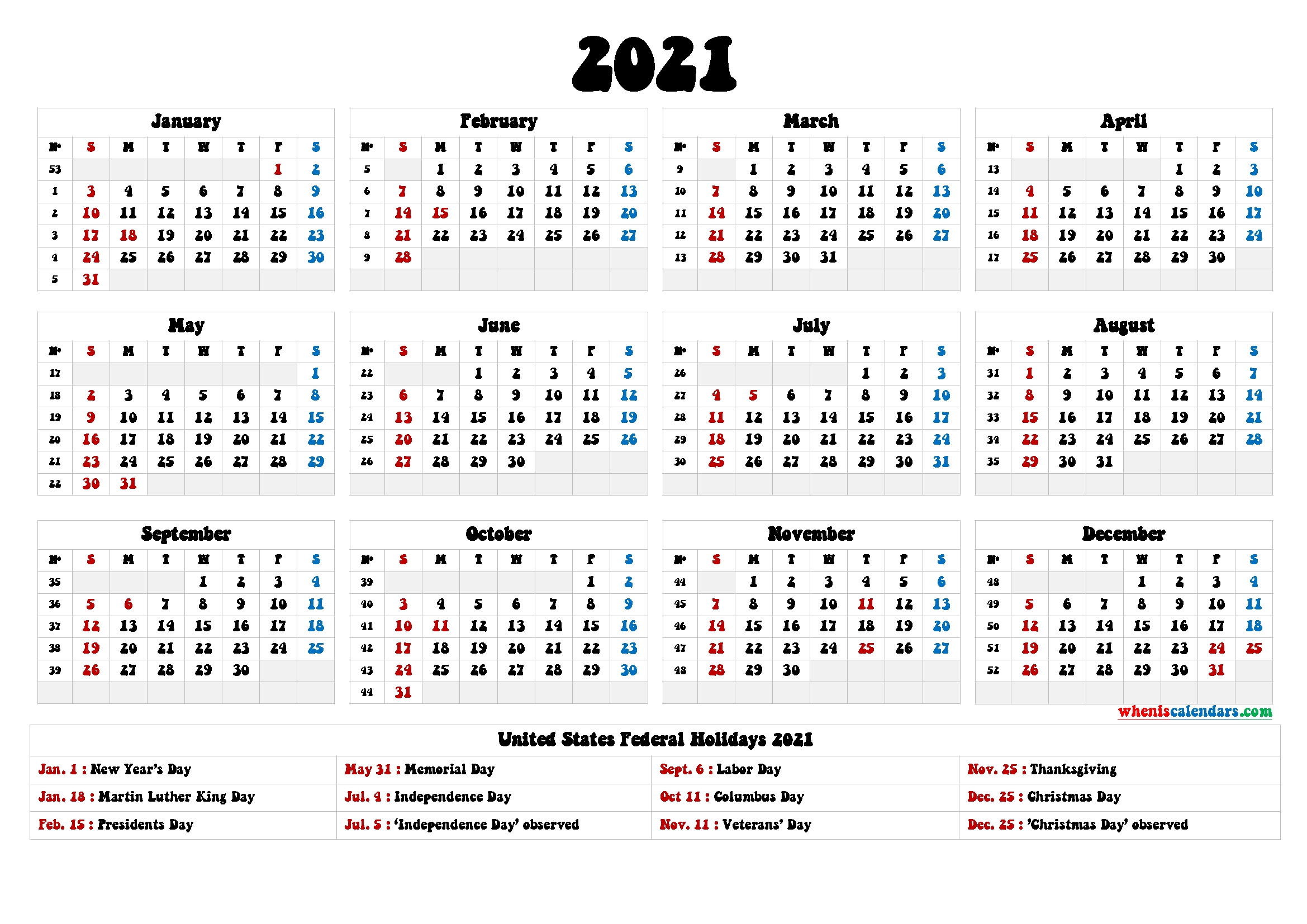 4Mmonth Calendar On One Page 2021  Example Calendar Printable pertaining to Desktop Calendars 2021 Free Printable