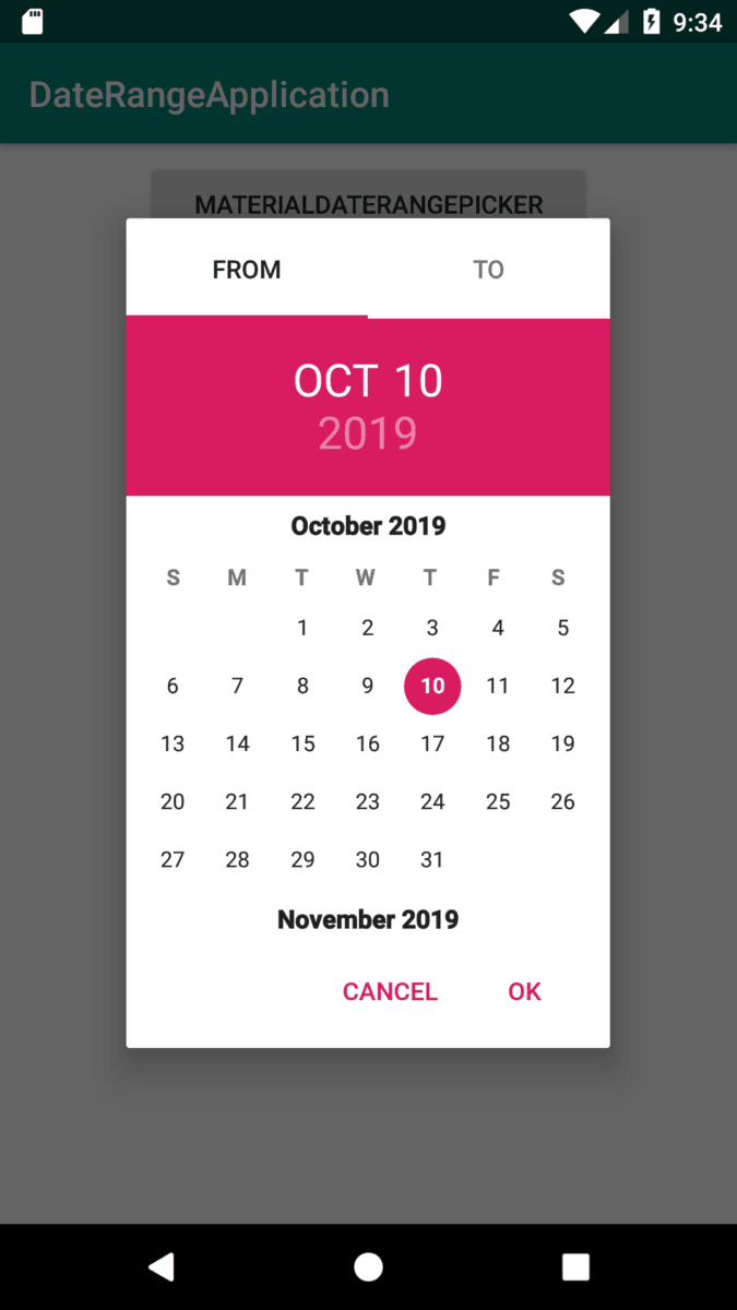 5 Useful Date Range Picker Libraries For Android  Build inside Qualtrics Date Range Picker
