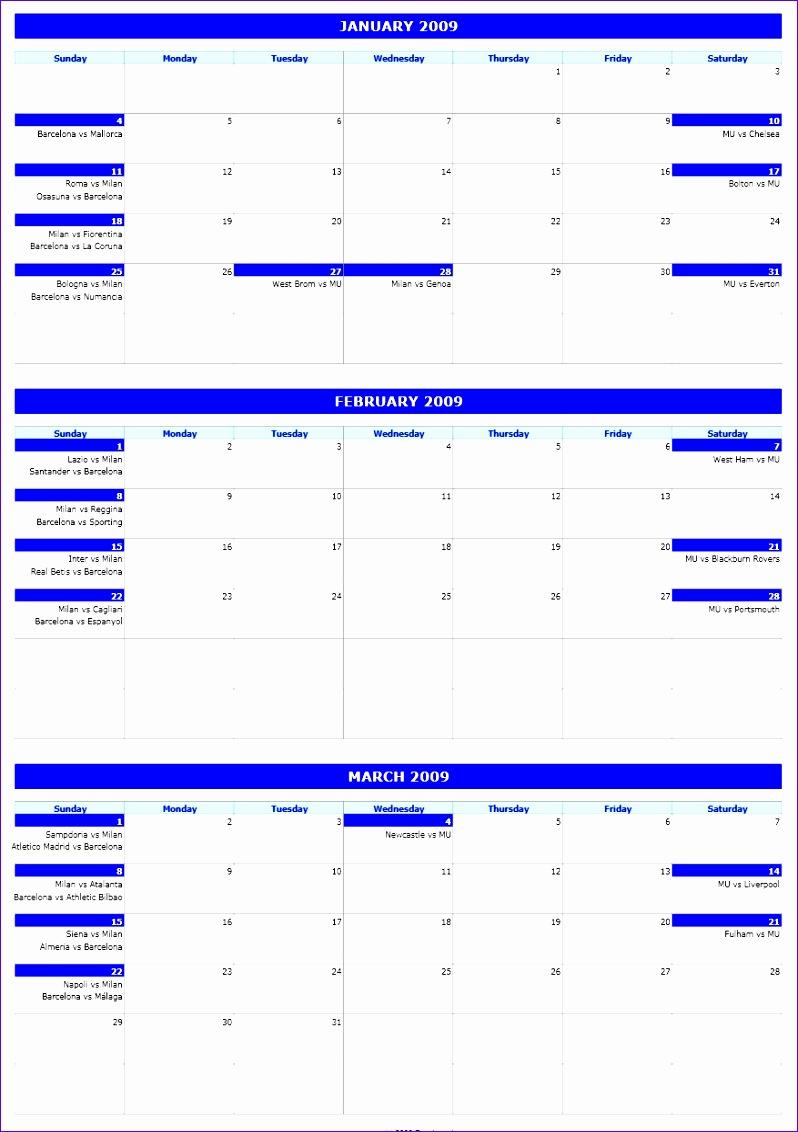 6 3 Month Calendar Template Excel  Excel Templates inside 3 Month Calendar Printable