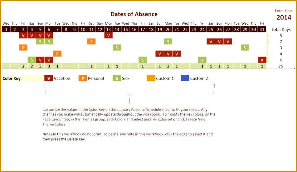 6 Employee Vacation Tracker Spreadsheet Template pertaining to Free Pto Calendar Templates