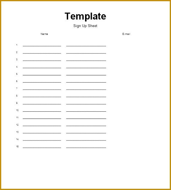 6 Simple Sign In Sheet Template   Fabtemplatez regarding Football Potluck Sign Up Sheet
