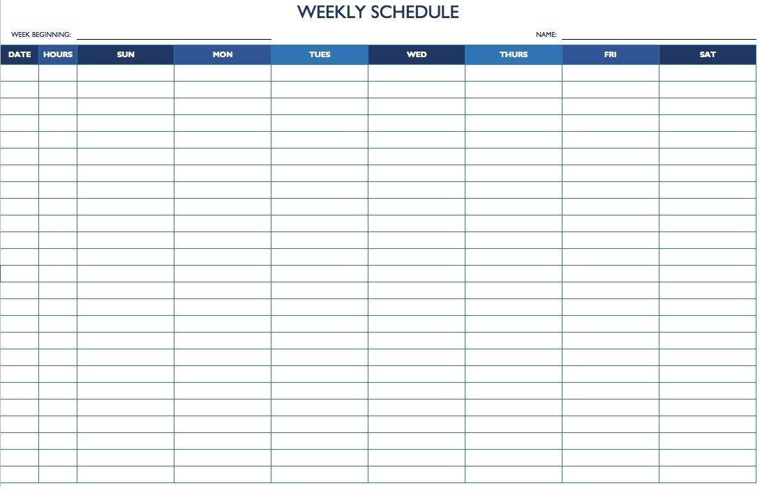 7 Day 24 Hour Calendar Template   Daily Calendar Template with regard to 7 Day Planner Template
